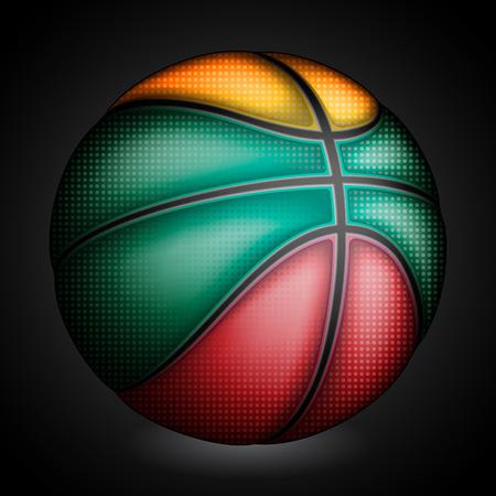 basket ball: Lituanos baloncesto, vector