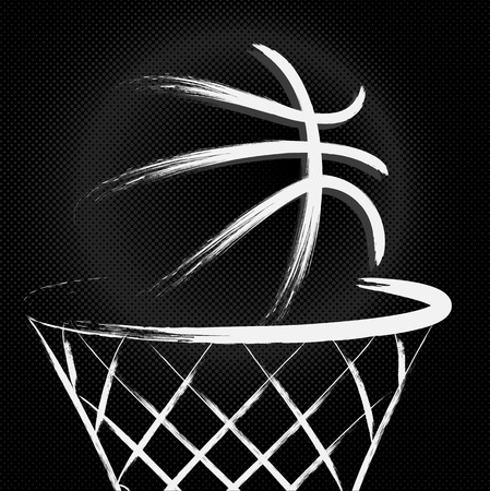 basket ball: Basketball, vector Illustration