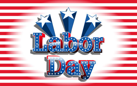 labor strong: Labor Day, United States of America, vector Illustration