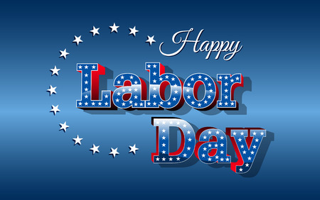 Labor Day, United States of America, vector Çizim