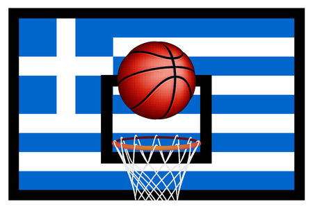 basket ball: Baloncesto griegos, vector