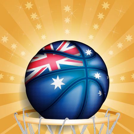 basket ball: Baloncesto de Australia, vector