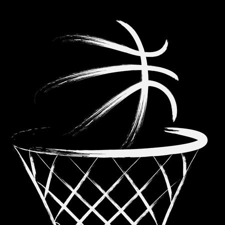 basket: Basketball, vector Illustration