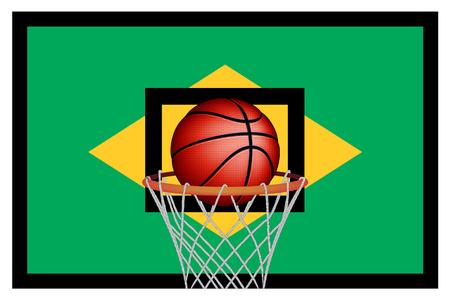 basket ball: Baloncesto brasile�o, vector
