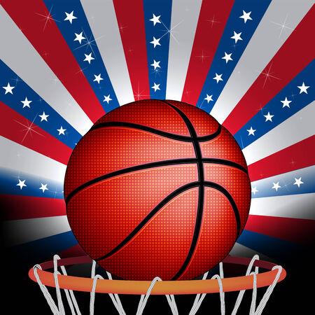 USA basket ball, vector Illustration