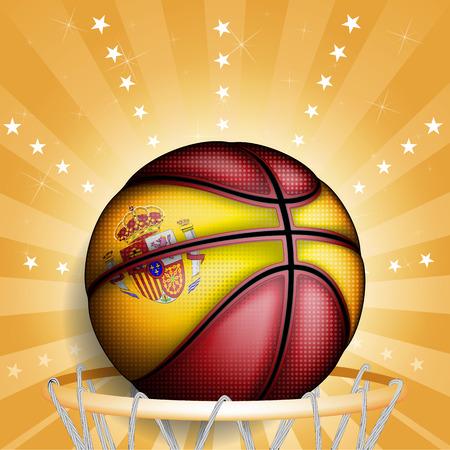 basket ball: Baloncesto espa�ol, vector