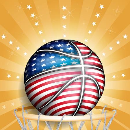 basket ball: EE.UU. basket ball, vector