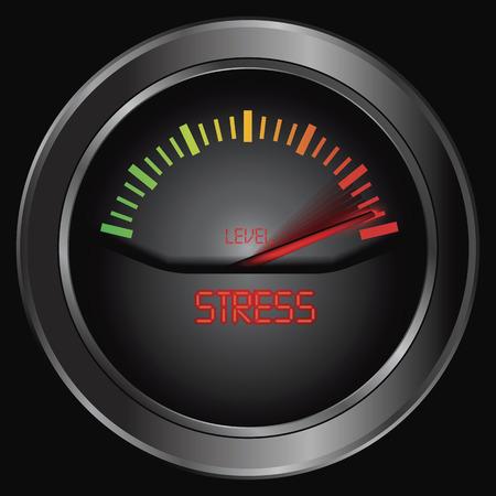 rating meter: Stress meter indicate, vector