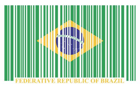 Brazil barcode flag, vector Vector