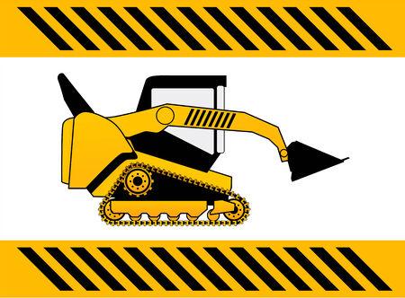 compactor: bulldozer, construction machine vector
