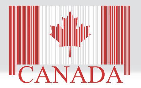 Canada barcode flag, vector Vector