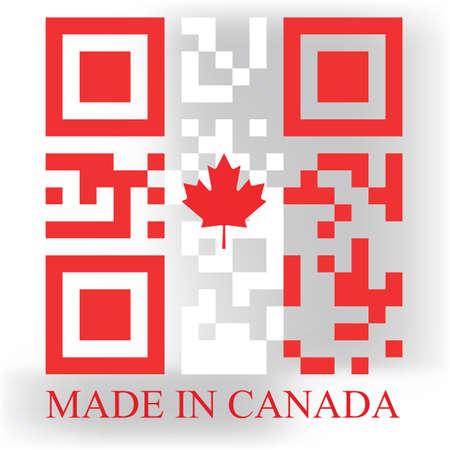 response: Canada QR code flag, vector
