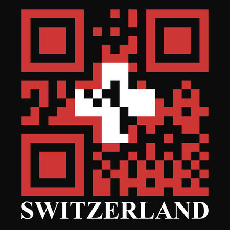 Switzerland QR code flag, vector Vector