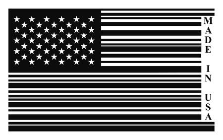 USA barcode flag, vector