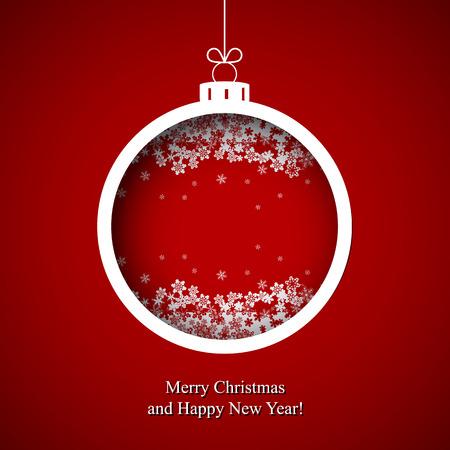Christmas Card, vector Stock Illustratie