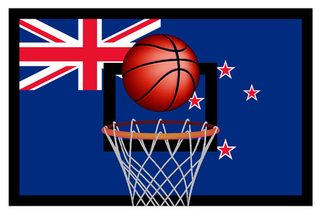 basket ball: New Zealand basket ball, vector Illustration