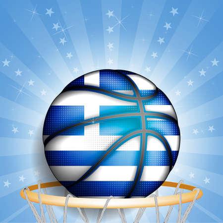 basket ball: Greeks basket ball, vector Illustration