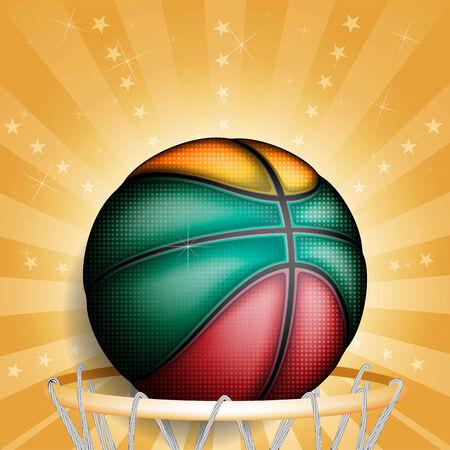 basket ball: Lithuanians basket ball, vector Illustration