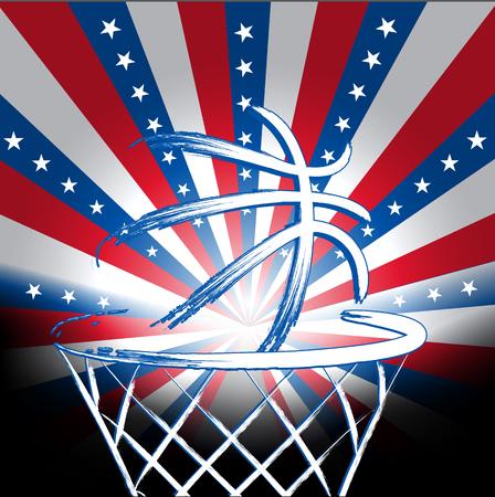basket ball: USA basket ball, vector Illustration
