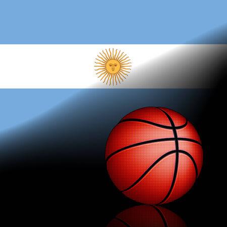 argentine: Argentine basket ball, vector