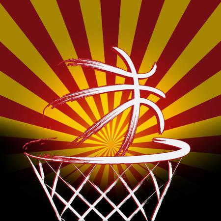 basket ball: Spanish basket ball, vector