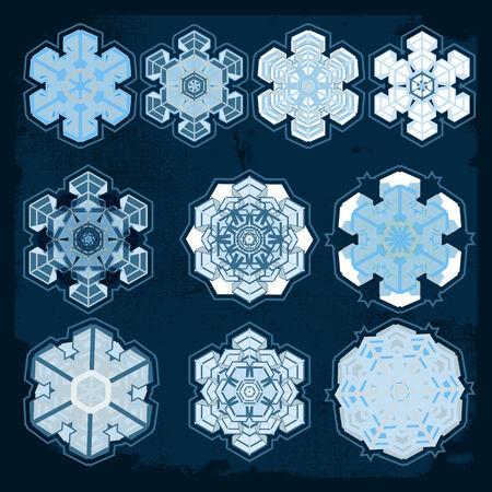 Snowflake winter set, vector Vector