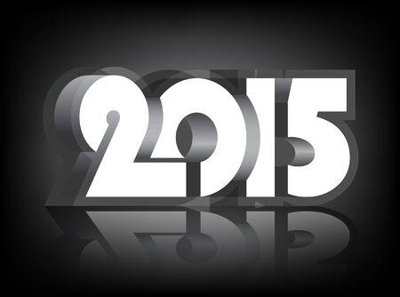 fifteen: Happy New Year 2015 design card, vector