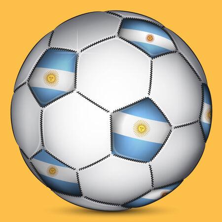 argentine: Argentine soccer ball, vector Illustration