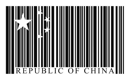 capitalist: China barcode flag, vector