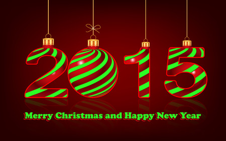 fifteen: elegant New Year 2015  background, vector