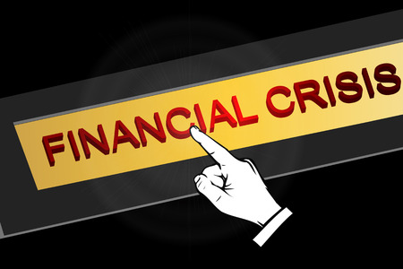 exchange loss: Financial crisis button, vector