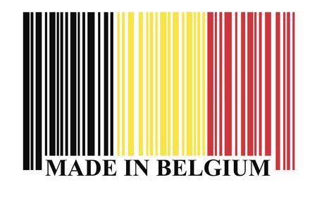 made in belgium: Belgium barcode flag vector