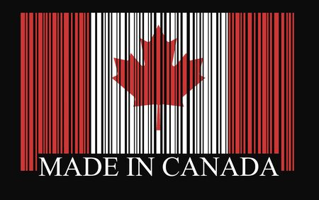Canada barcode flag vector Vector
