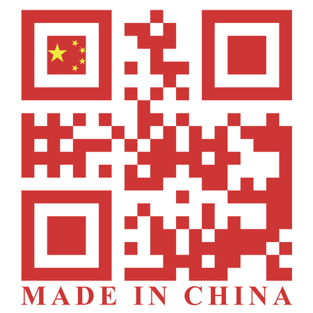 China QR code flag vector