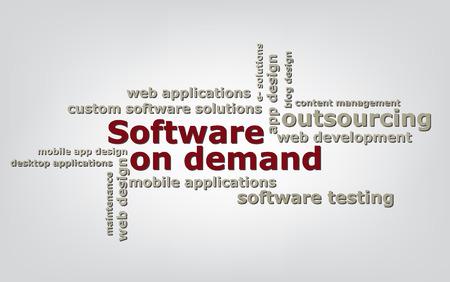 keyword: keyword  Software on demand wordcloud vector