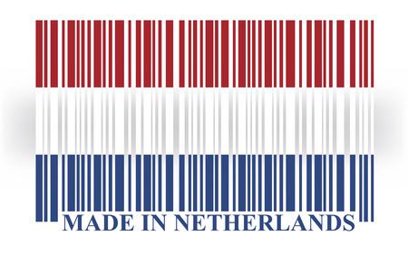 made in netherlands: Netherland barcode flag vector