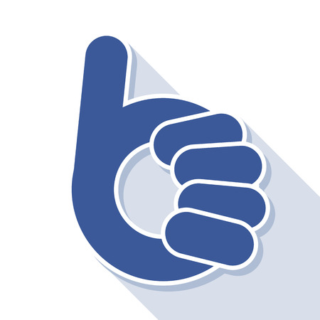 abstract thumb up- like symbol, vector