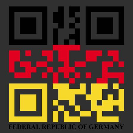 Germany QR code flag, vector