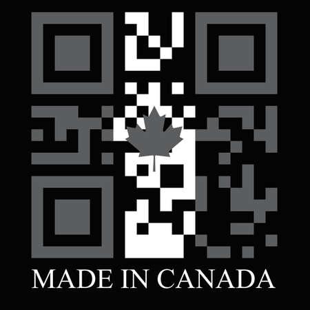 qr code: Canada QR code flag, vector