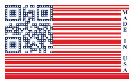 food industry: USA barcode flag, vector