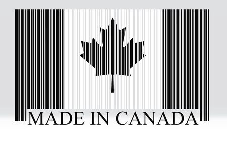canadian flag: Canada barcode flag, vector Illustration