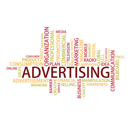 digital media: Advertising Tag Cloud, vector