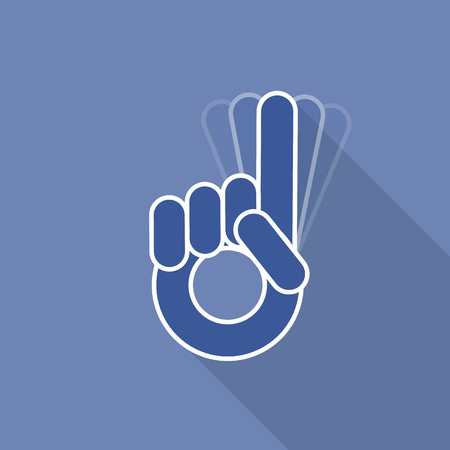 wagging: No pointer finger,  symbol