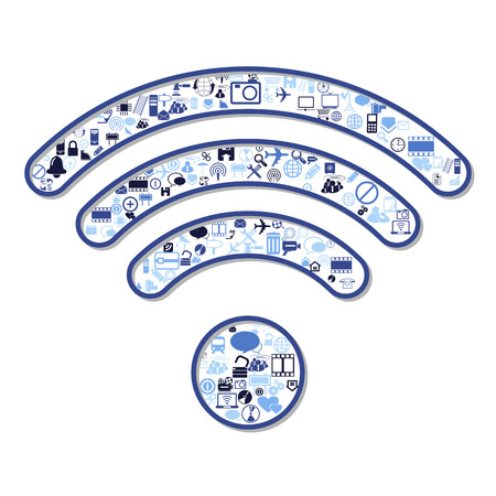 wireless connection: wireless connection symbol, vector