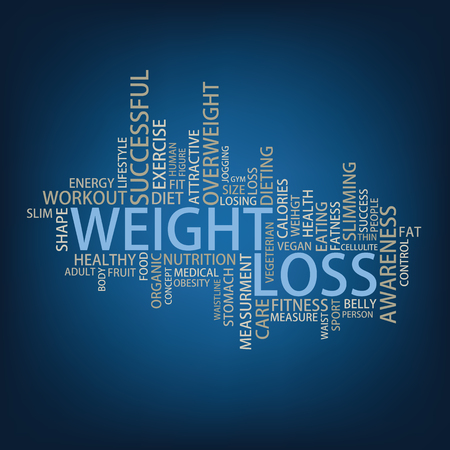 weight loss success: Weight loss Tag Cloud, vector