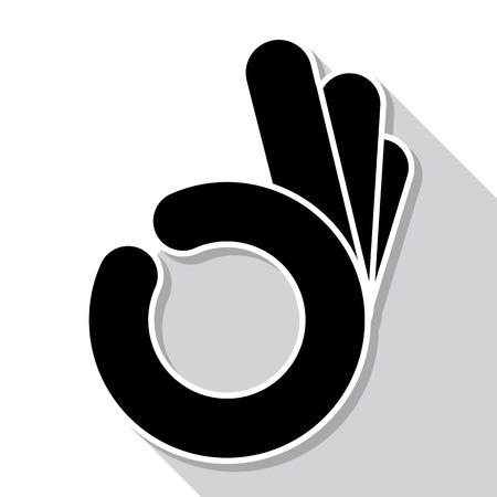 abstract  OK okay hand symbol, vector
