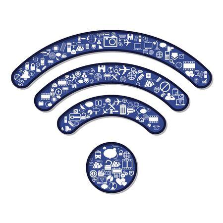 fi: Wi Fi symbol, vector