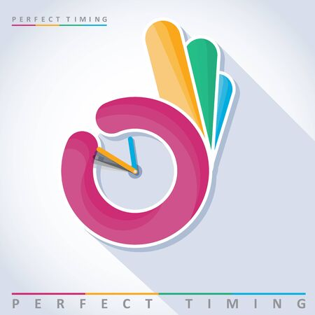 timing: Perfect timing, vector