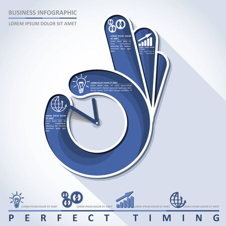 perfect: Business infographic. Perfect timing, vector