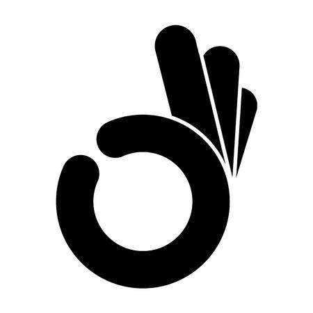 abstracte OK oke de hand symbool, vector
